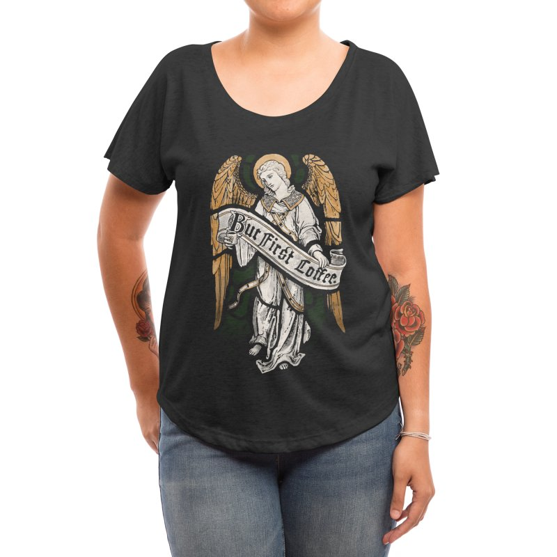 Holy Coffee Women's Scoop Neck by Threadless Artist Shop