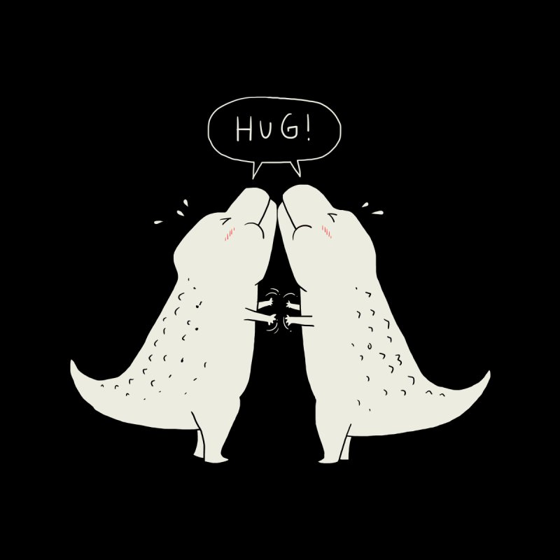 Dino Hug Kids T-Shirt by Threadless Artist Shop