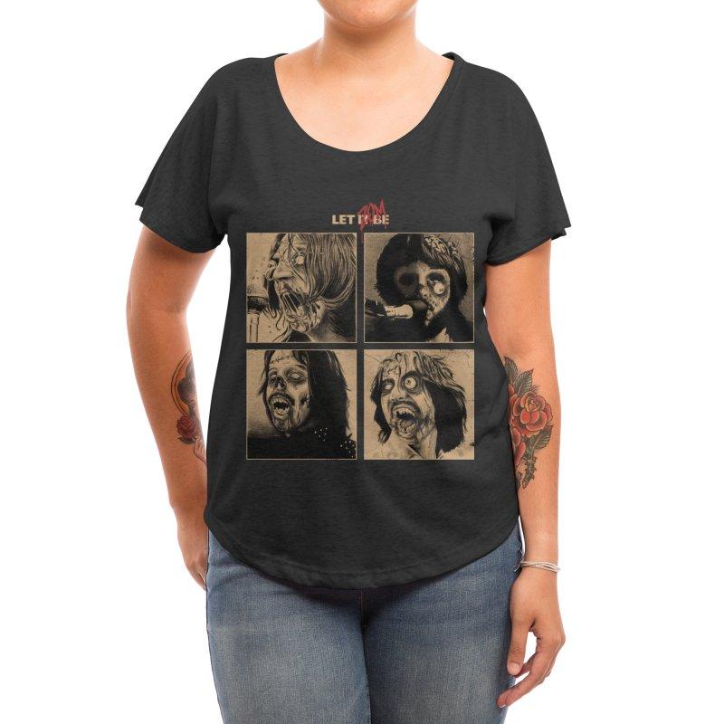 LET IT (ZOM)BE Women's Scoop Neck by Threadless Artist Shop