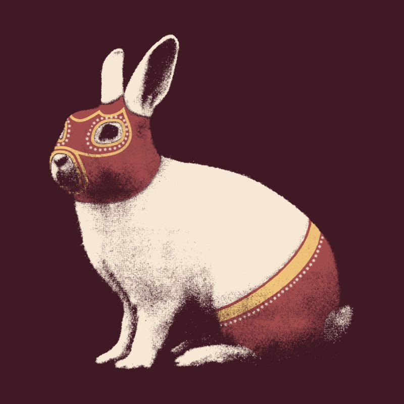 Rabbit Wrestler Men's T-Shirt by Threadless Artist Shop