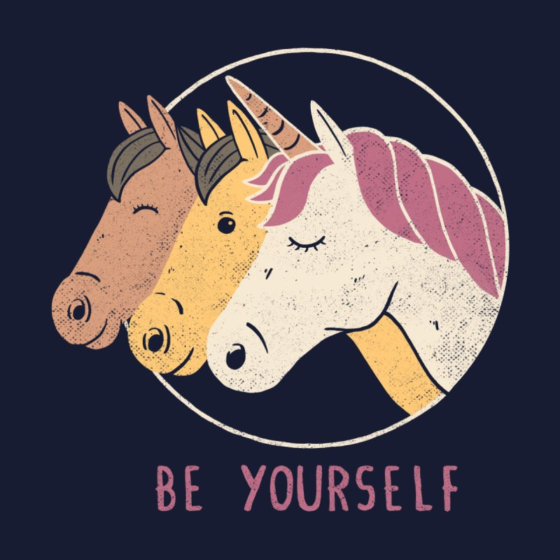 Be Yourself Men's T-Shirt by Threadless Artist Shop