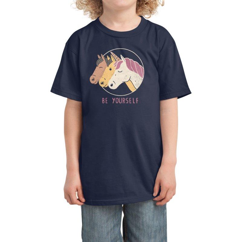 Be Yourself Kids T-Shirt by Threadless Artist Shop