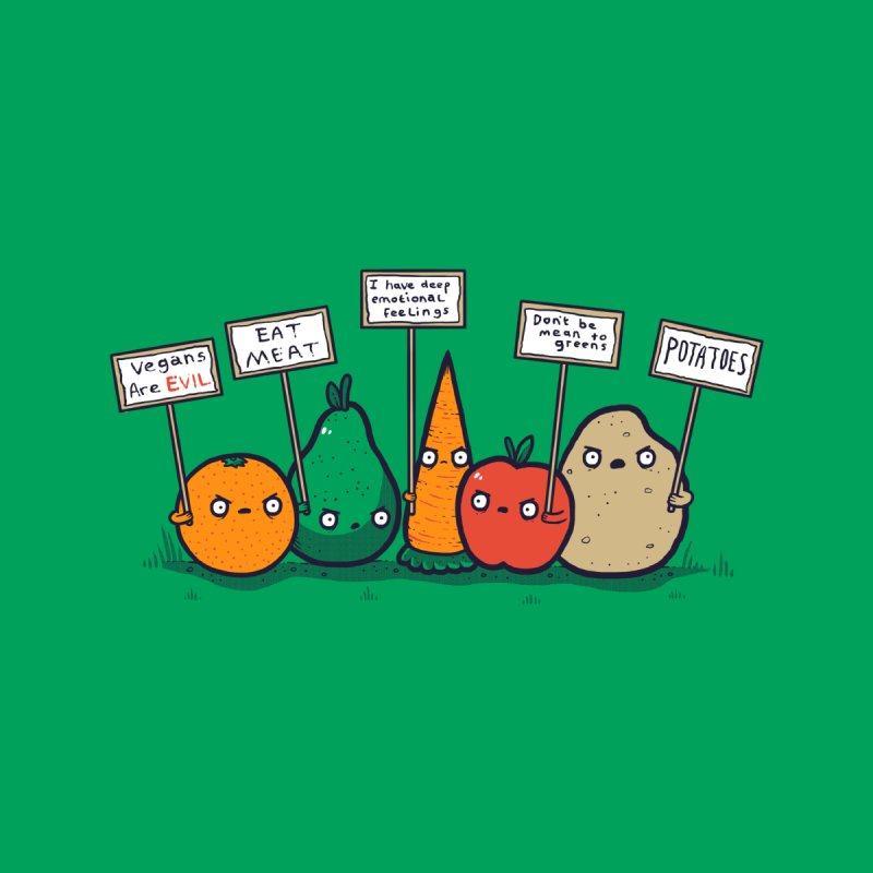 I Hate Vegans Men's T-Shirt by Threadless Artist Shop