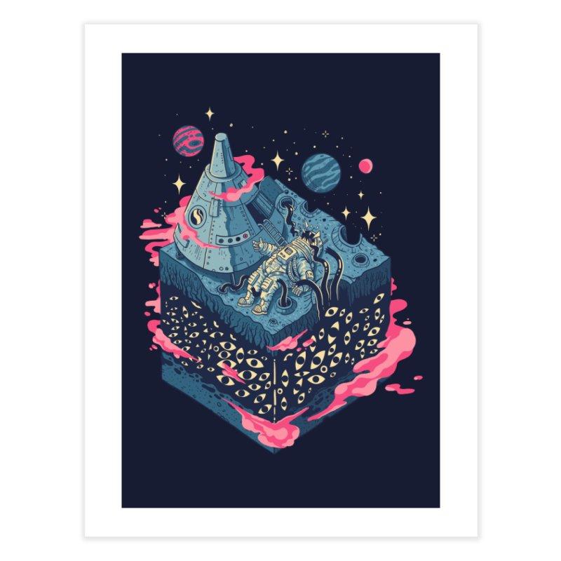 Contact Home Fine Art Print by Threadless Artist Shop