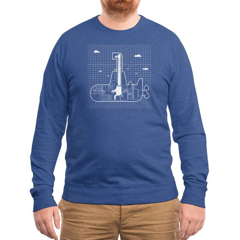 My little submarine. Men's Sweatshirt by Threadless Artist Shop