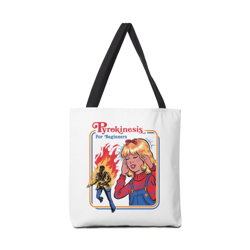 Pyrokinesis for Beginners (White Variant) Accessories Bag by Threadless Artist Shop