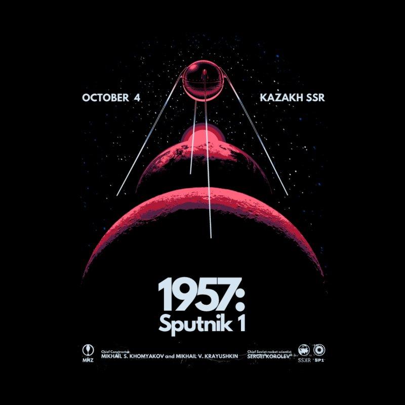 1957: Sputnik 1 (Black Variant) Accessories Beach Towel by Threadless Artist Shop