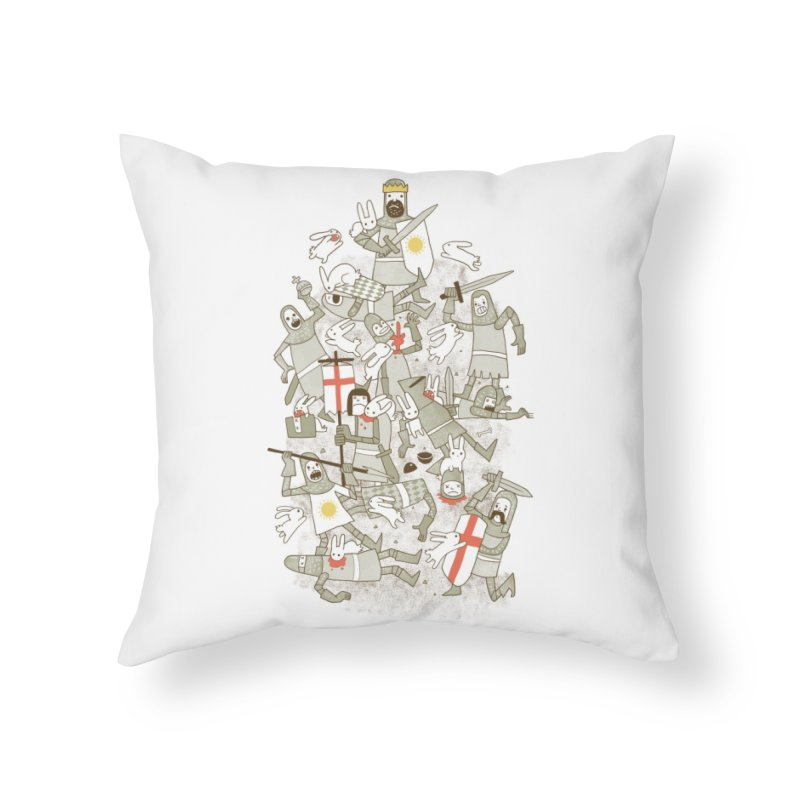 Bad Tempered Rodents Home Throw Pillow by Threadless Artist Shop