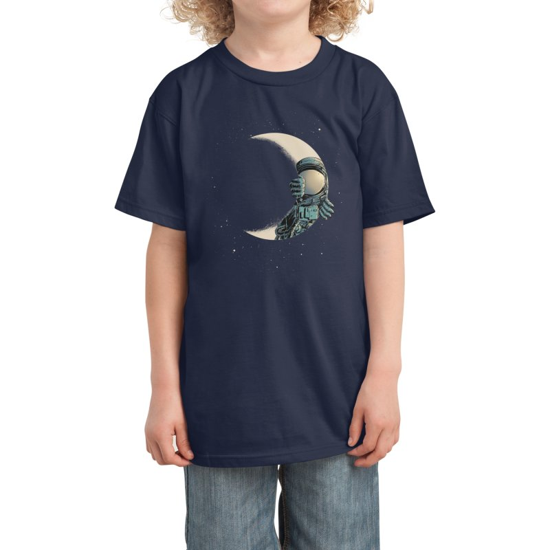 Crescent moon Kids T-Shirt by Threadless Artist Shop