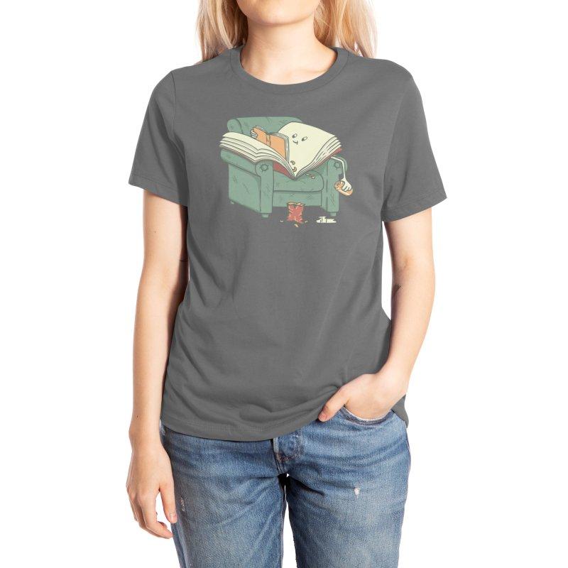 book reads Women's T-Shirt by Threadless Artist Shop