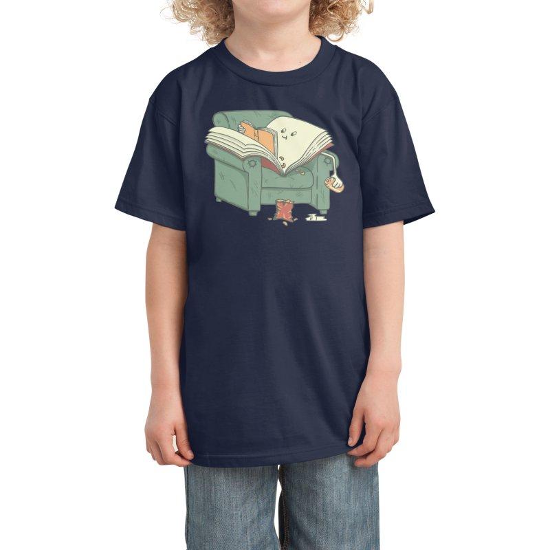 book reads Kids T-Shirt by Threadless Artist Shop