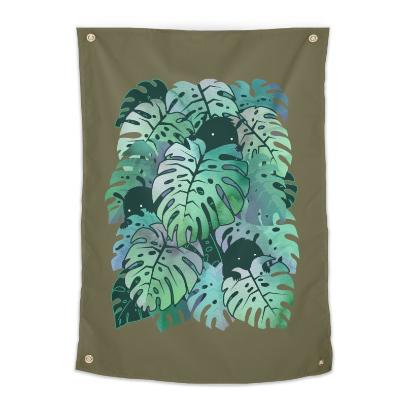 Monstera Monsters Home Tapestry by Threadless Artist Shop