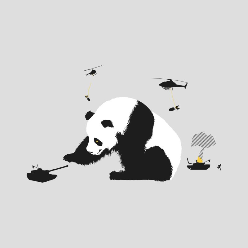 Pandamonium Men's T-Shirt by Threadless Artist Shop
