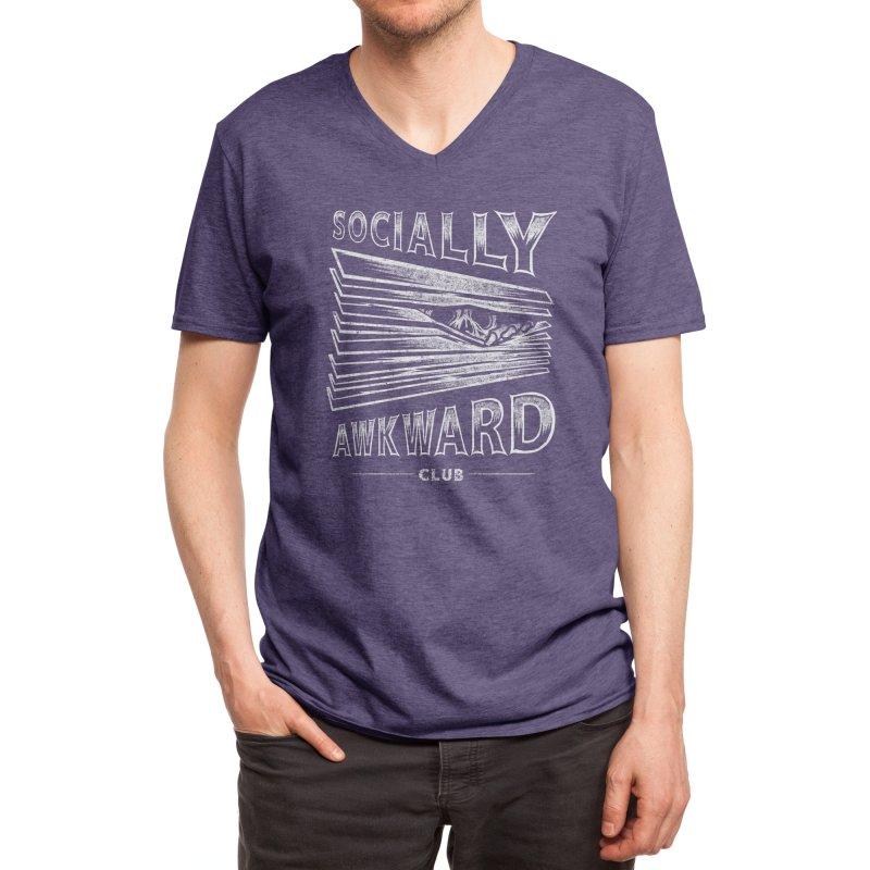 Socially Awkward Club Men's V-Neck by Threadless Artist Shop