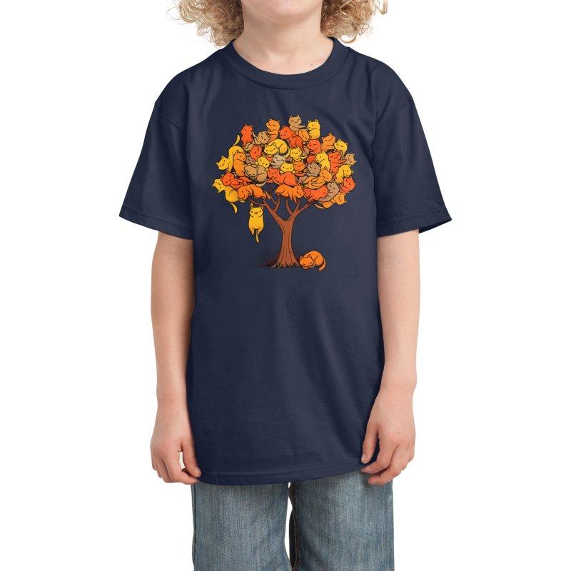 Cat Tree Kids T-Shirt by Threadless Artist Shop