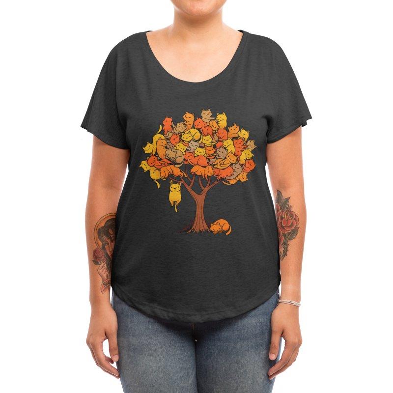 Cat Tree Women's Scoop Neck by Threadless Artist Shop