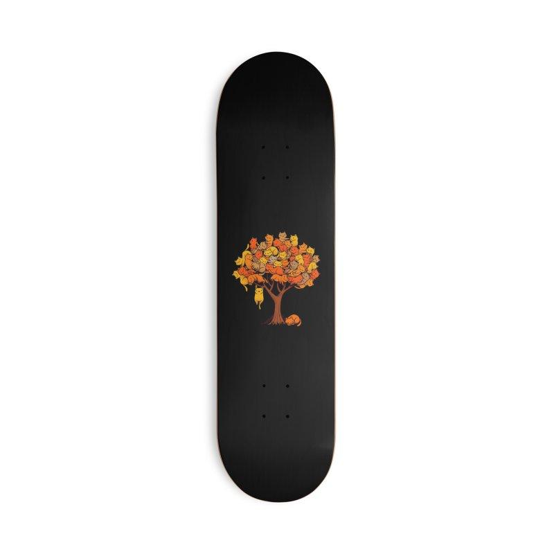 Cat Tree Accessories Skateboard by Threadless Artist Shop