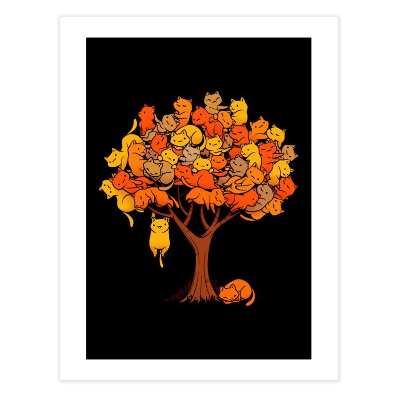 Cat Tree Home Fine Art Print by Threadless Artist Shop
