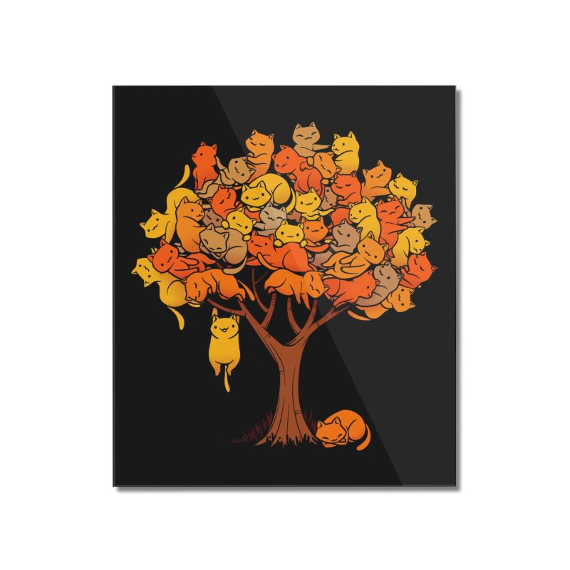 Cat Tree Home Mounted Acrylic Print by Threadless Artist Shop