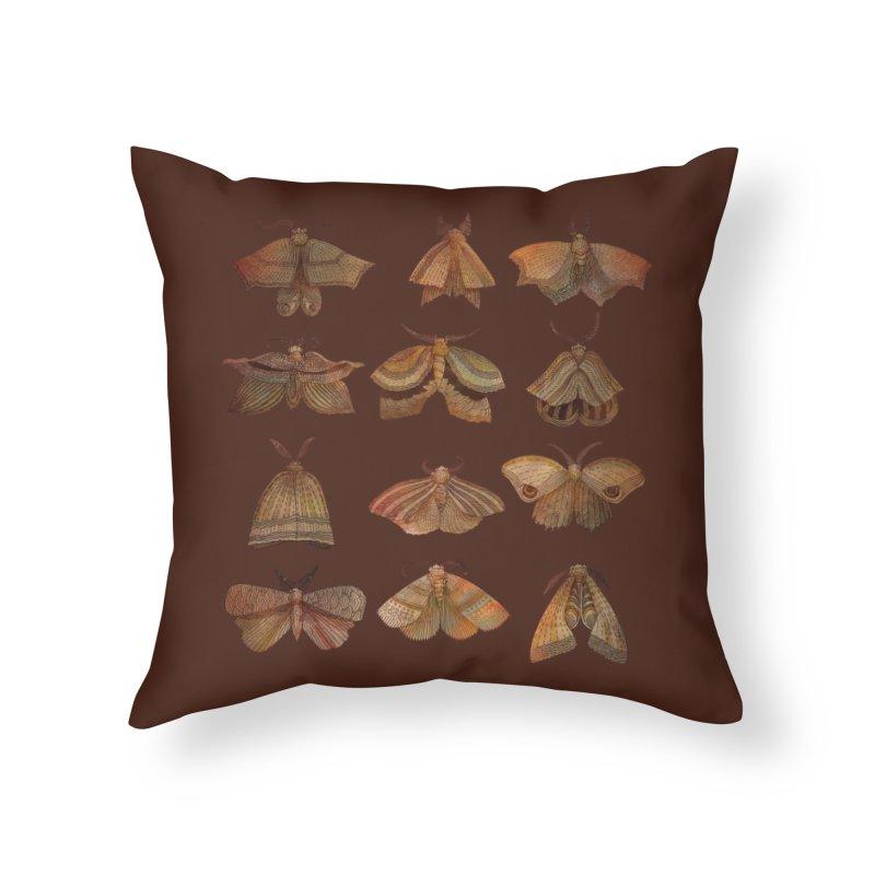 Moth Collector Home Throw Pillow by Threadless Artist Shop