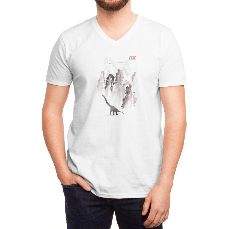 Dinosaur dynasty Men's V-Neck by Threadless Artist Shop
