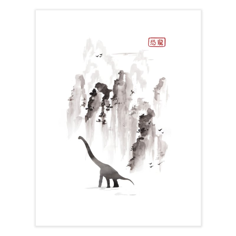 Dinosaur dynasty Home Fine Art Print by Threadless Artist Shop