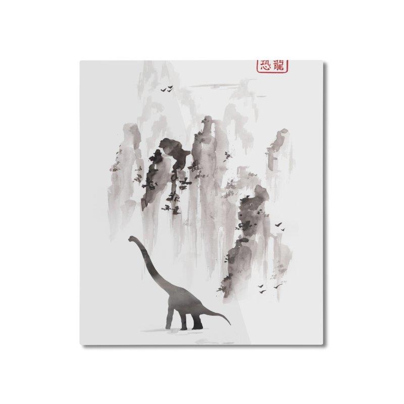 Dinosaur dynasty Home Mounted Aluminum Print by Threadless Artist Shop