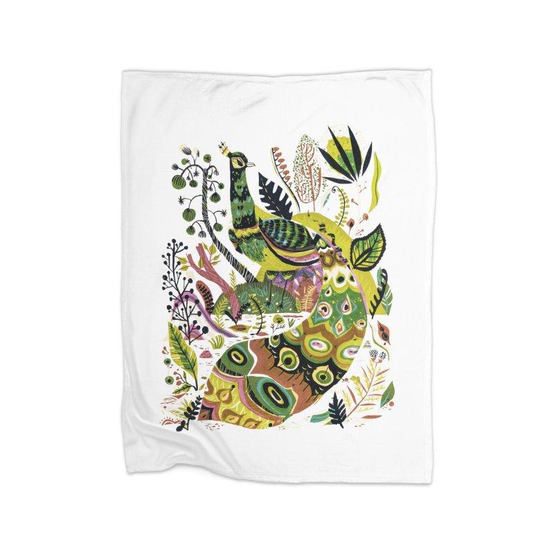Cosmic Peacock Home Blanket by Threadless Artist Shop