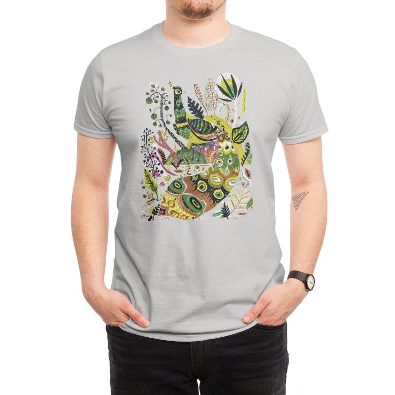 Cosmic Peacock Men's T-Shirt by Threadless Artist Shop