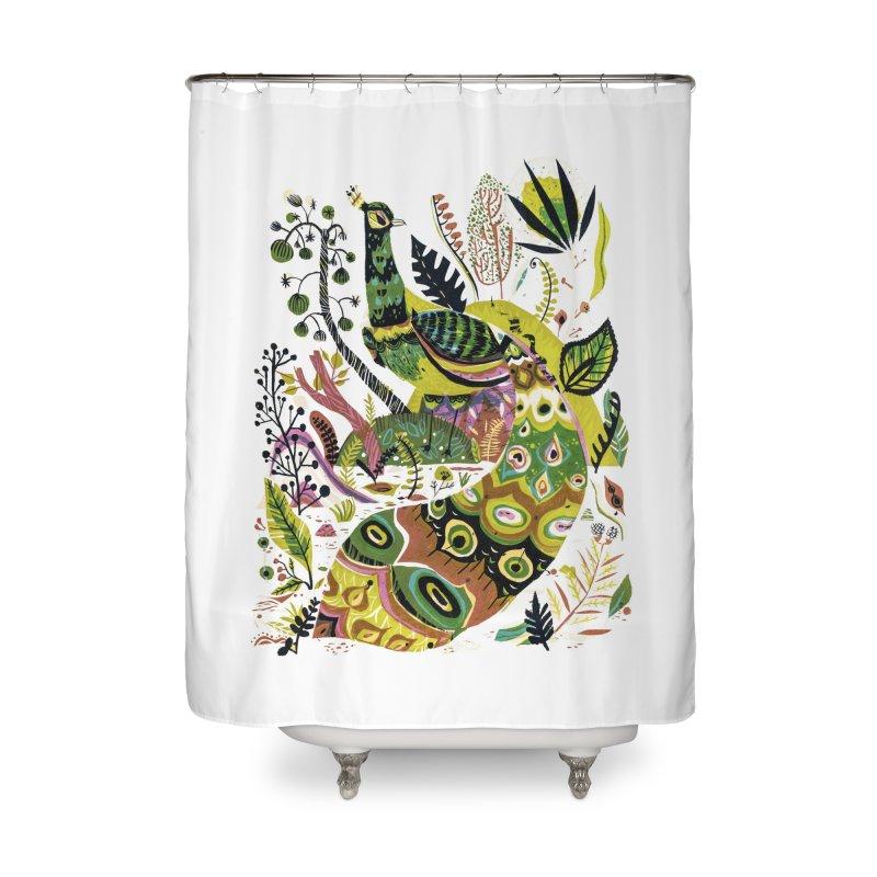 Cosmic Peacock Home Shower Curtain by Threadless Artist Shop