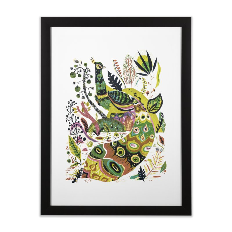 Cosmic Peacock Home Framed Fine Art Print by Threadless Artist Shop