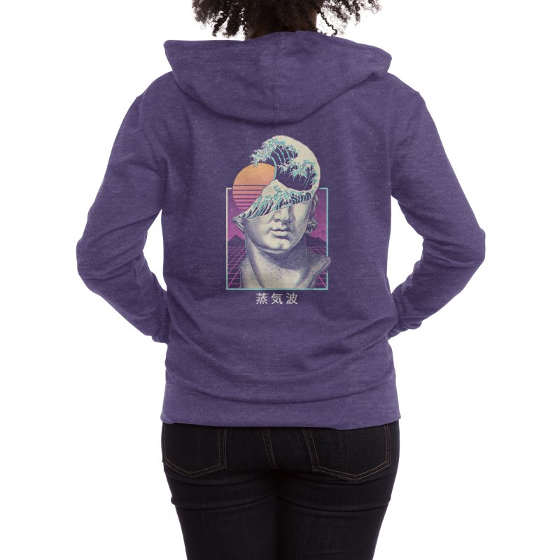 Great Vaporwave Women's Zip-Up Hoody by Threadless Artist Shop