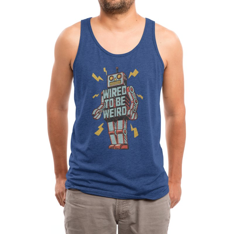 Wired to be Weird Men's Tank by Threadless Artist Shop