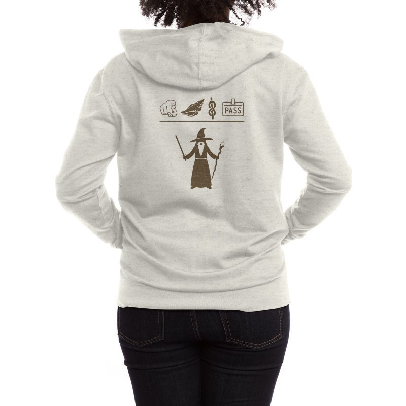 Wizard Hieroglyph Women's Zip-Up Hoody by Threadless Artist Shop