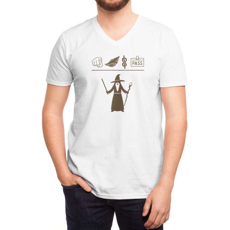 Wizard Hieroglyph Men's V-Neck by Threadless Artist Shop