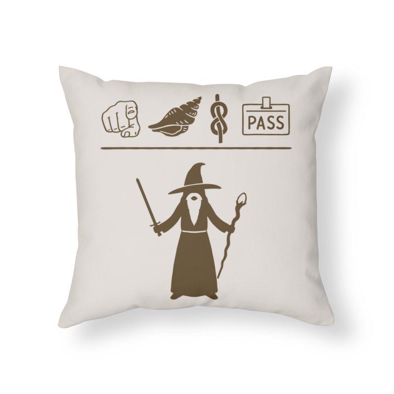 Wizard Hieroglyph Home Throw Pillow by Threadless Artist Shop