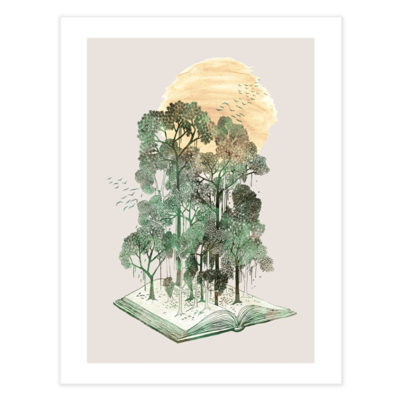 My Jungle Book Home Fine Art Print by Threadless Artist Shop