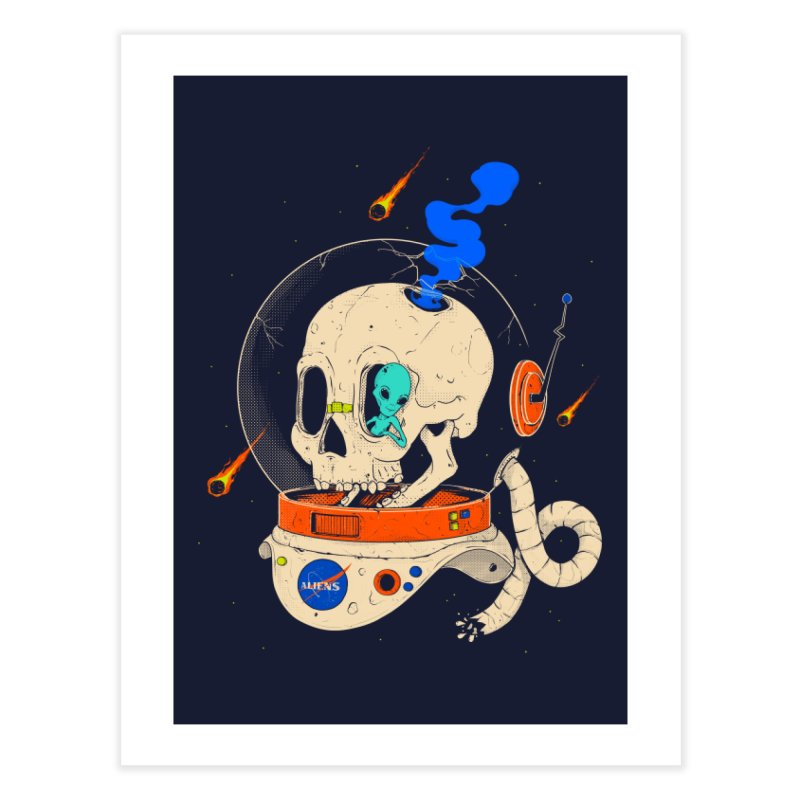 voyager Home Fine Art Print by Threadless Artist Shop