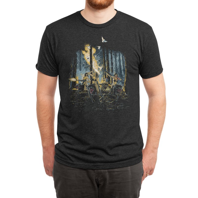 HOT CHICKS ON WOLVES Men's T-Shirt by Threadless Artist Shop