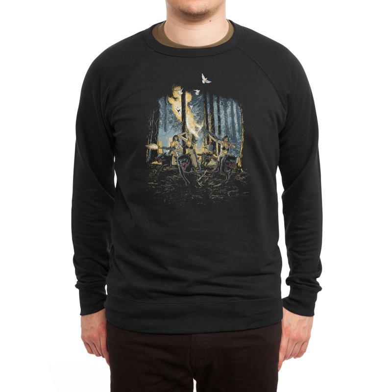 HOT CHICKS ON WOLVES Men's Sweatshirt by Threadless Artist Shop