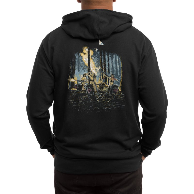 HOT CHICKS ON WOLVES Men's Zip-Up Hoody by Threadless Artist Shop