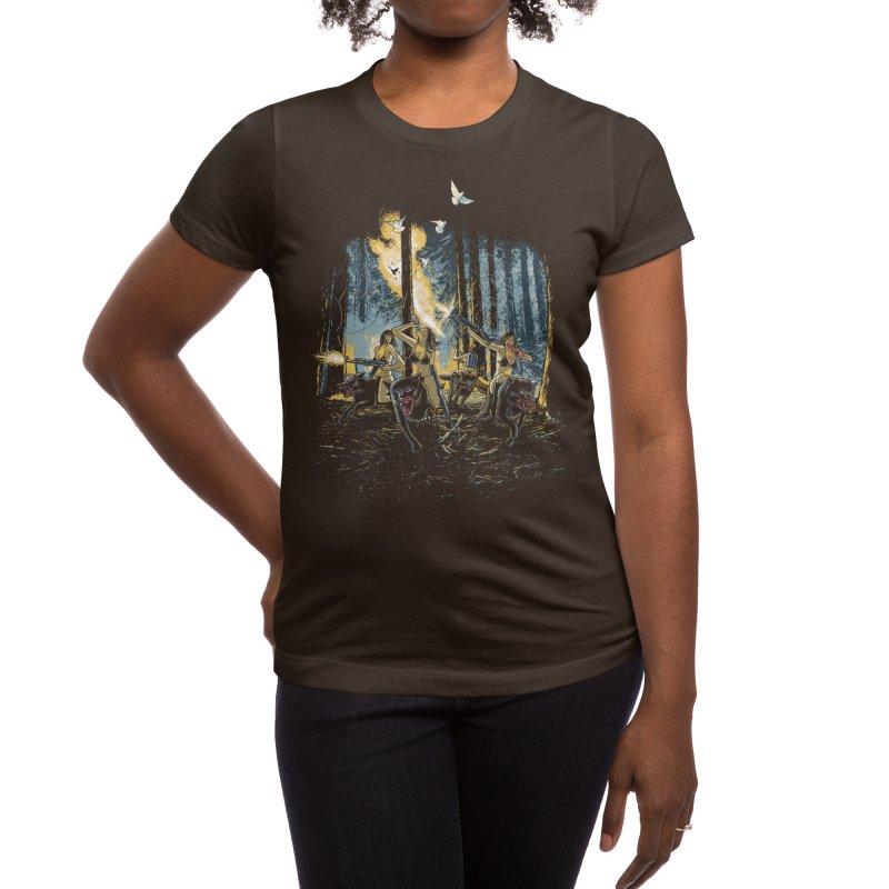 HOT CHICKS ON WOLVES Women's T-Shirt by Threadless Artist Shop