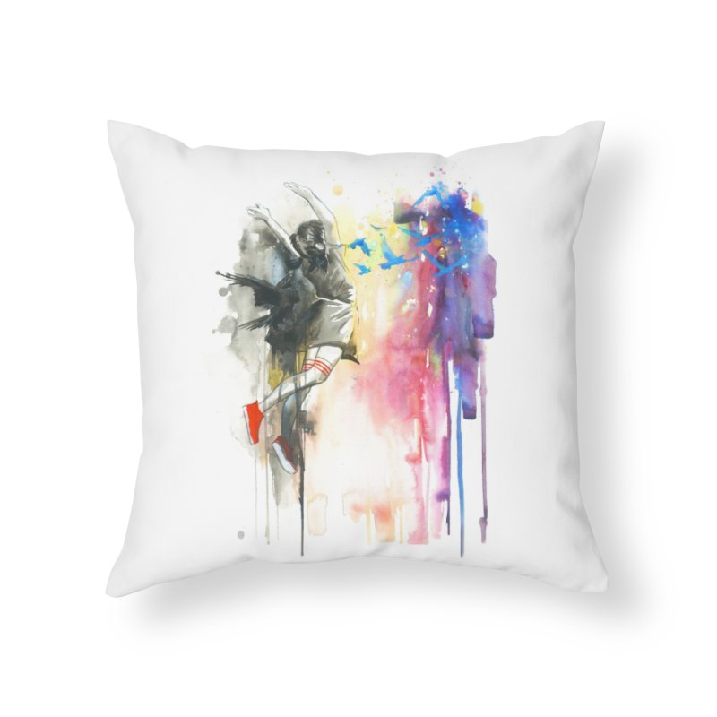 The Great Escape - Lora Zombie Home Throw Pillow by Threadless Artist Shop
