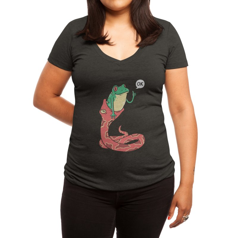 Everything Is Totally Okay Women's V-Neck by Threadless Artist Shop