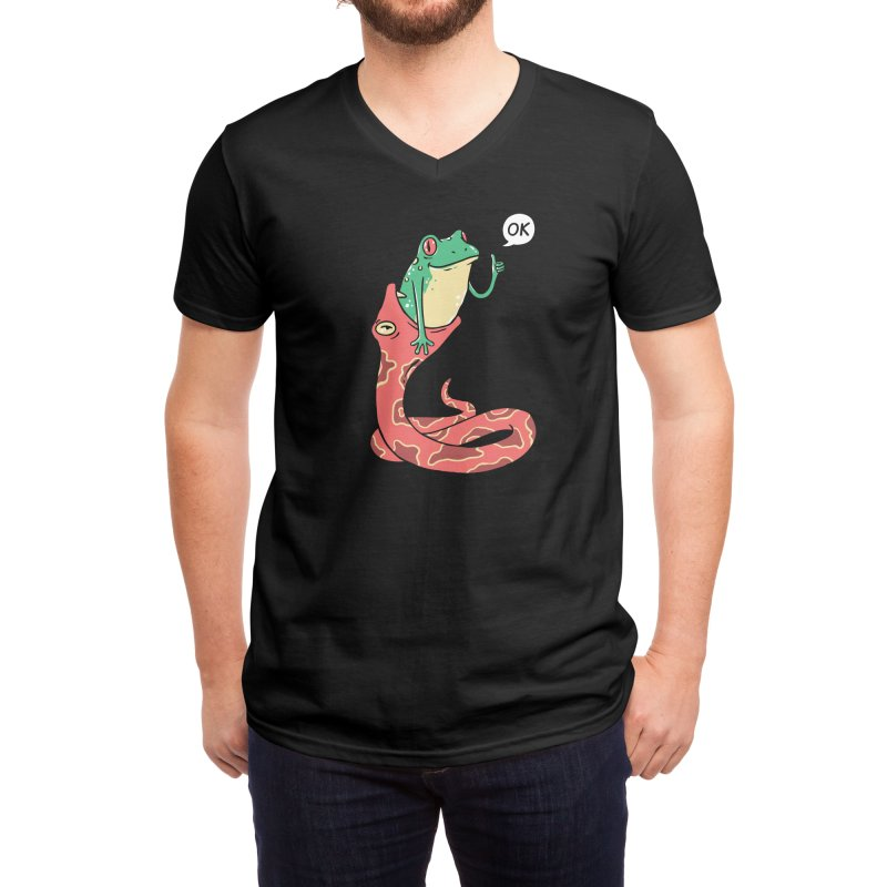 Everything Is Totally Okay Men's V-Neck by Threadless Artist Shop