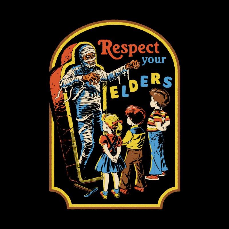 Respect Your Elders (Black Variant) Accessories Beach Towel by Threadless Artist Shop
