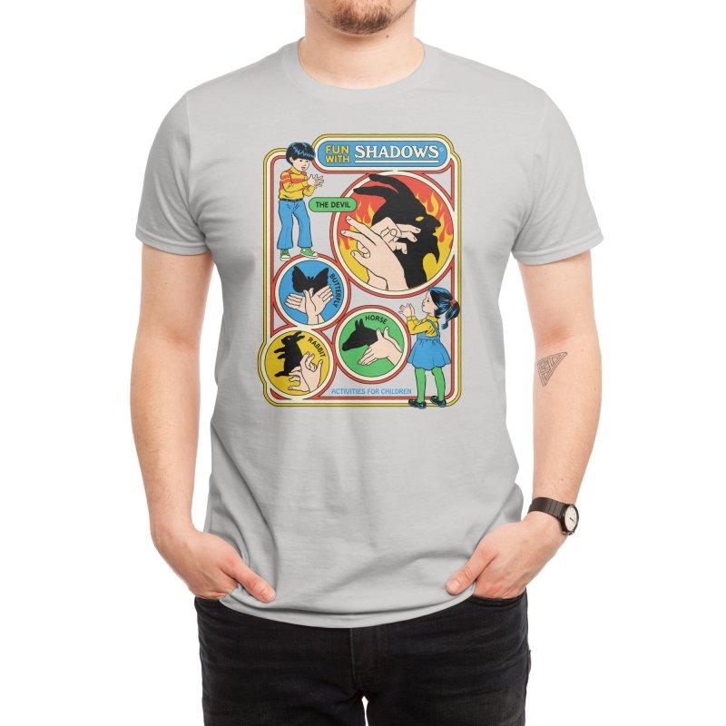 Fun with Shadows (White Variant) Men's T-Shirt by Threadless Artist Shop