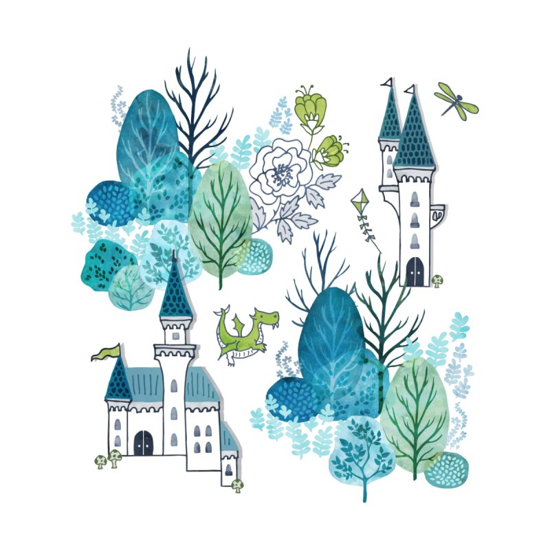 Fairytale woods Kids T-Shirt by Threadless Artist Shop
