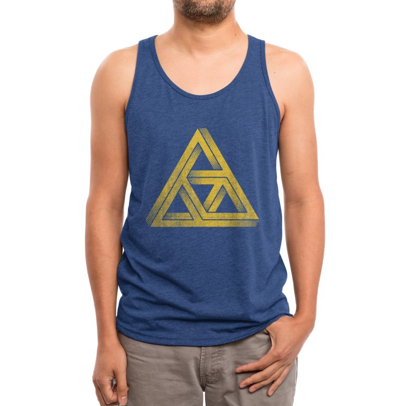 Penrose Triforce (Black Variant) Men's Tank by Threadless Artist Shop