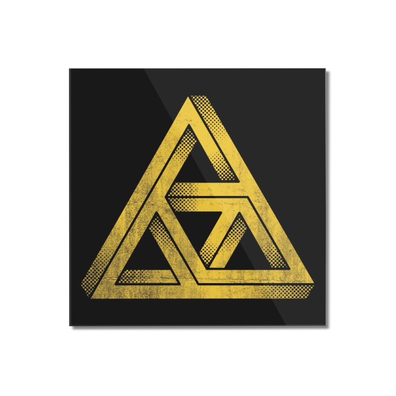 Penrose Triforce (Black Variant) Home Mounted Acrylic Print by Threadless Artist Shop